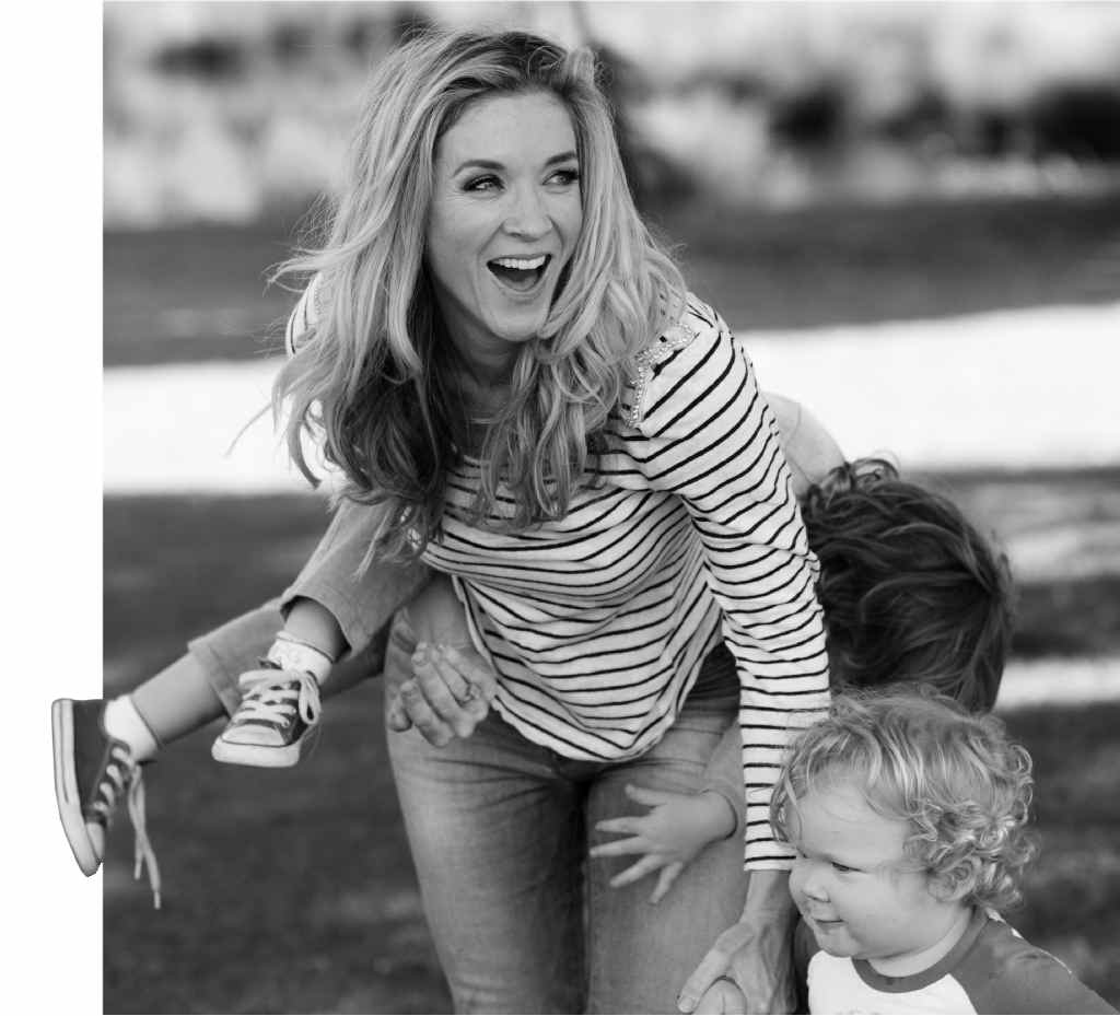 Jacinta Tynan is revelling in her role as the mother of two young boys.