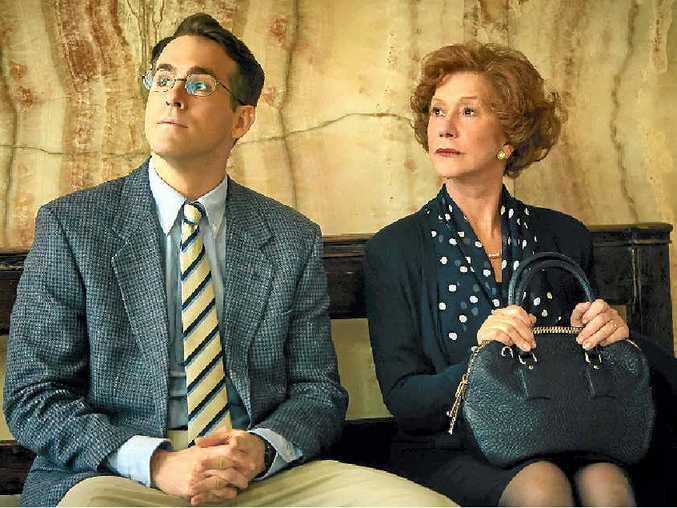 Ryan Reynolds and Helen Mirren in a scene from Woman in Gold.