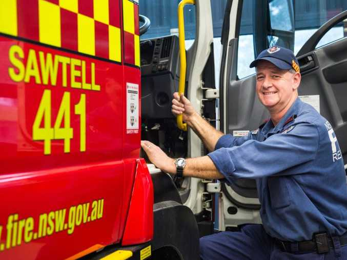 Sawtell fire chief Garry Stewart has assisted wife Linda with cooking for Australia's Biggest Morning Tea at the station today.