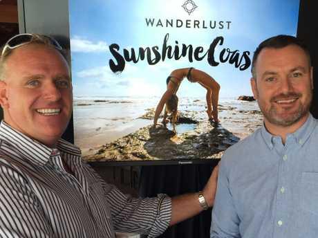Tourism Sport and Major Events Portfolio Councillor Jason OPray and Wanderlust Festival Director Jonnie Halstead