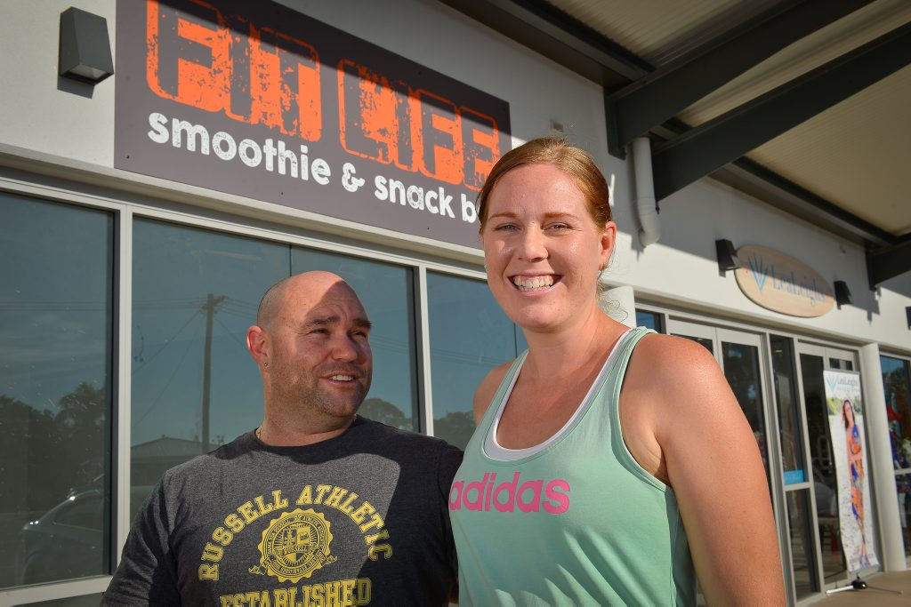 Rick and Kirsty Callander will open a health food takeaway store in Tannum Sands next month.