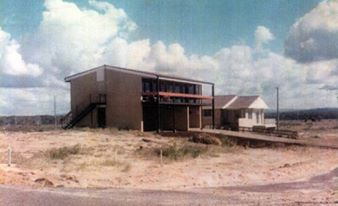 One of the first homes constructed at Kawana, situated in Bandalong Street, ca1970