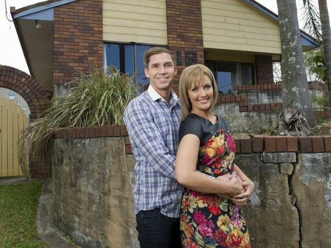 House Rules contestants Ben and Danielle pictured in front of their Brisbane home.