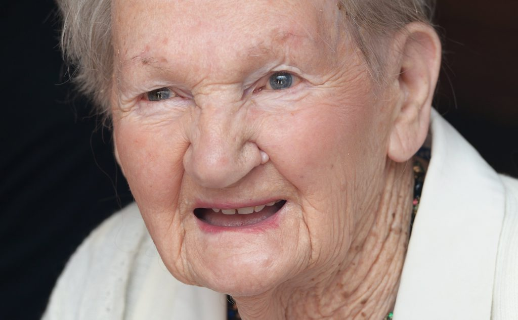 Image for sale: May Holgate celebrated her one hundredth birthday on Friday. Photo: Rob Williams / The Queensland Times