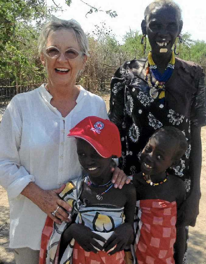 CHALLENGING: Kerry Page with patients in remote South Sudan.