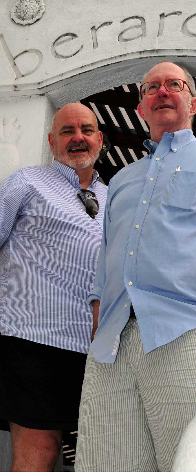 IMAGINATIVE AND DRIVEN: Jim Berardo and Greg O'Brien.