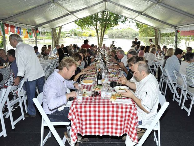 Guests enjoy a French picnic event during the Noosa International Food and Wine Festival.