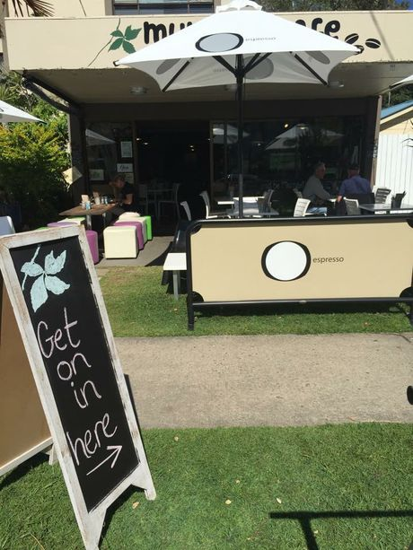 Murray's Cafe at Cotton Tree has a special dog friendly menu