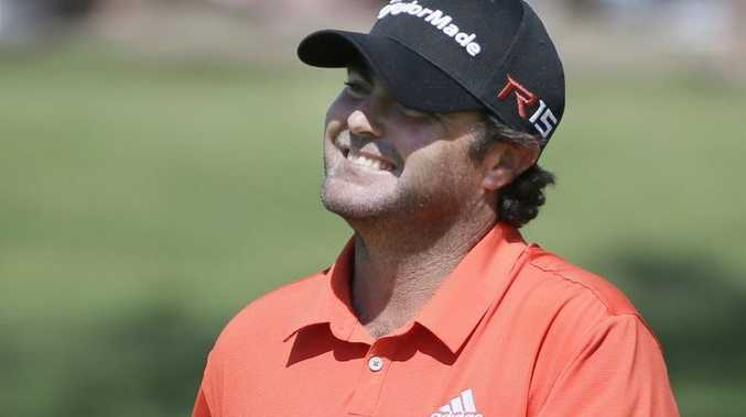 Steven Bowditch smiles after his putt on the 15th green during the final round of the Byron Nelson golf tournament in Irving, Texas.