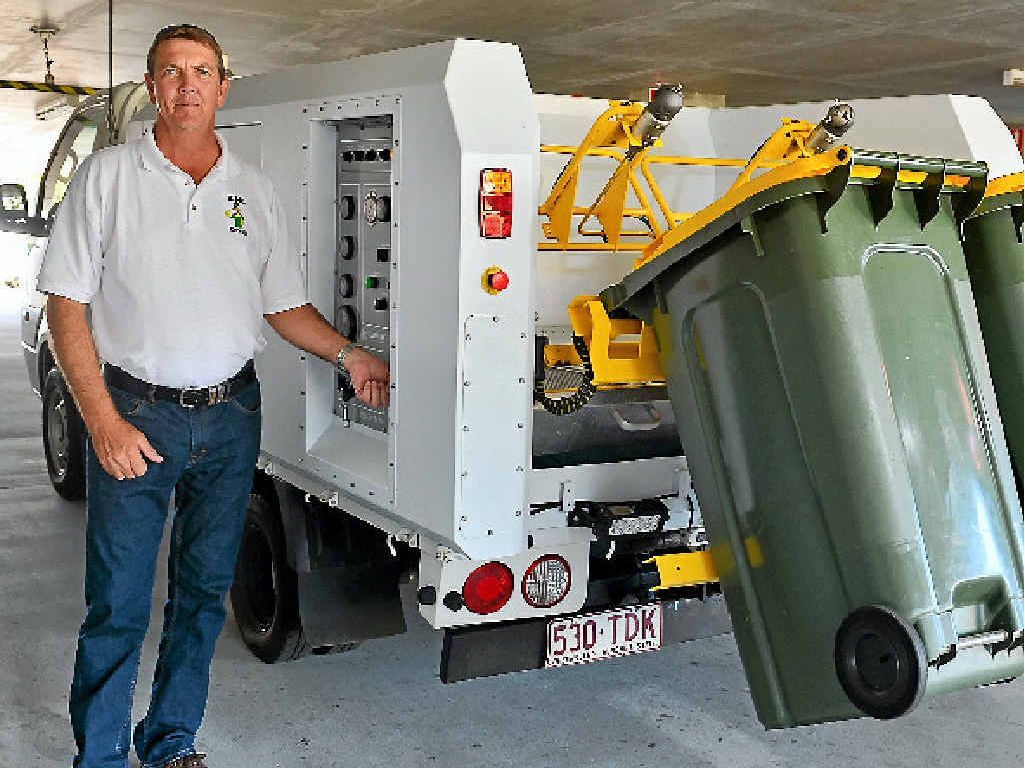 CLEAN START: Dan Wallace's job is all about rubbish.