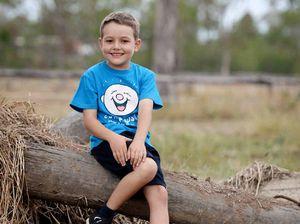 Anthony Kiely, 7, battles leukaemia