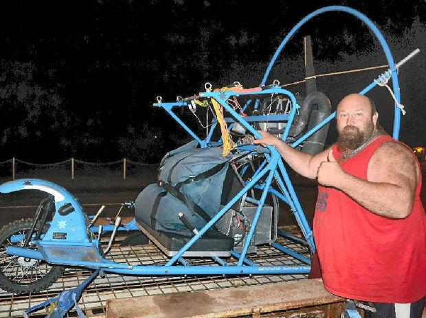 GREATLY MISSED: Theodore man Shaun Edwards, pictured here with his powered parachute, is being remembered for his fun-loving nature.