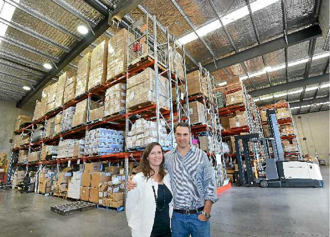CHAMBER EVENT: Wroxton and Amanda Innes, from Saddlery Trading Company, at their Caloundra West warehouse.
