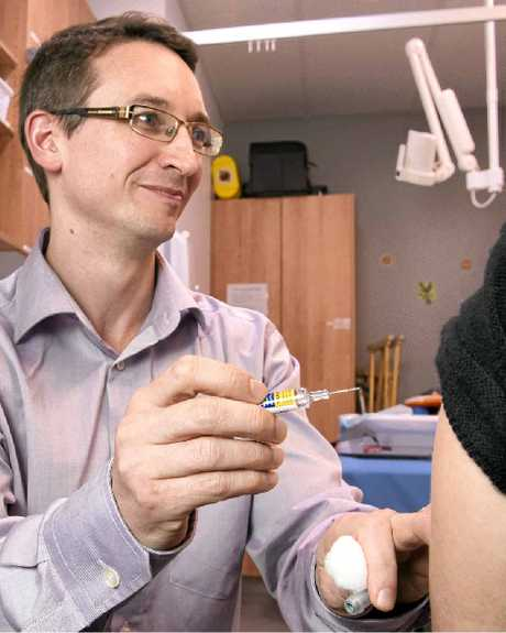 GET VACCINATED: Dr Roland Owen wants Toowoomba residents to protect themselves against this year's flu.
