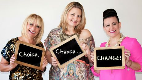 Alli Grant and Julie Cross are inspirational entertainers who live to help people (especially women) feel less alone and more normal with their real, raw, honest approach to telling it like it is. The duo created their show, 'Make a Choice, Take a Chance, Be the Change', with Rach Teirnan joining for the Maroochydore show in June. Photo: Peta Partel of Studio P2 Photography