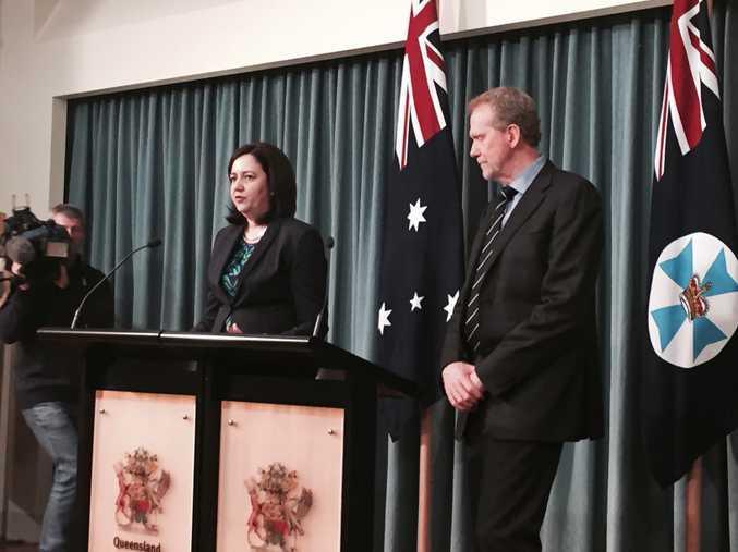 Queensland Premier Annastacia Palaszczuk with barrister Alan MacSporran SC