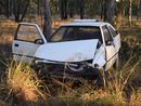 An elderly driver has crashed into a tree near Ducklo, west of Dalby.