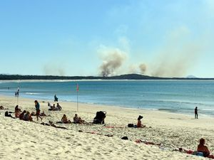 Burn by the beach: Controlled fire at Noosa National Park