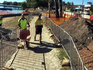 Popular foreshore on Bradman Ave undergoes upgrade
