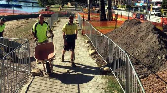 MAKEOVER: Sunshine Coast Council has started work on the fifth stage of foreshore upgrades along Maroochy River on Bradman Ave.