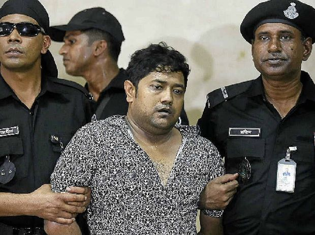 IN STRIFE: Property tycoon Sohel Rana, charged in connection with Bangladesh's worst industrial disaster, is presented by police at a press conference in Dhaka.
