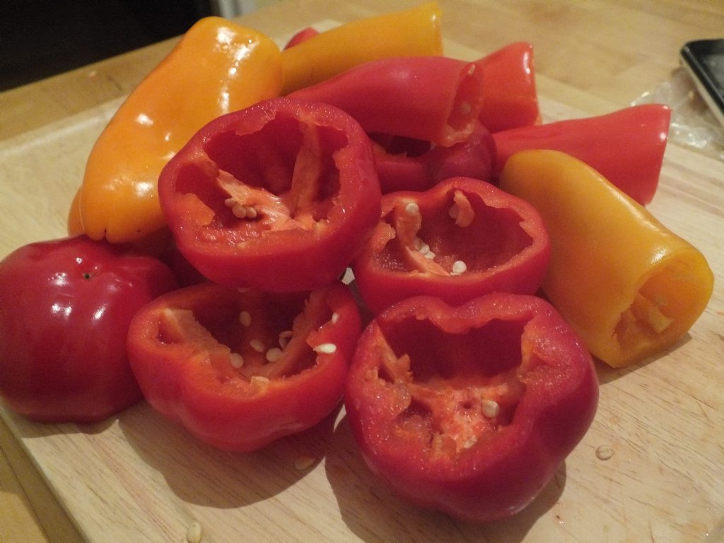 TASTY MORSELS: Normal capsicums can be used when these mini capsicums aren't in season. Photo Shannon Newley / Warwick Daily News
