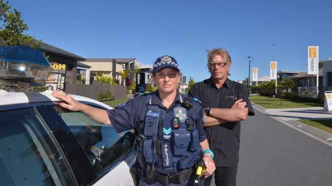 Senior Constable Kelly O'Brien and Shane Pieters are part of the Lock It or Lose It campaign after several display home break-ins. Photo: John McCutcheon / Sunshine Coast Daily