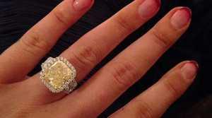 Iggy Azalea's engagement ring.