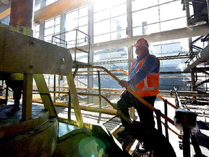 Racecourse Mill factory manager Terry Doolan overseas the start of his last crush as crushing season kicks off. Photo Lee Constable / Daily Mercury