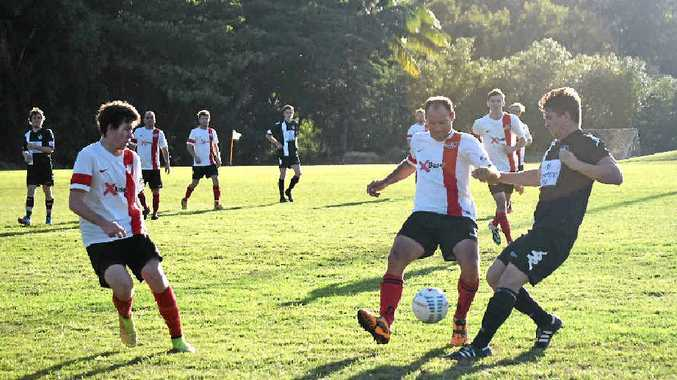 SKILFUL: Richard Draper from Whitsunday Football Club's reserves.