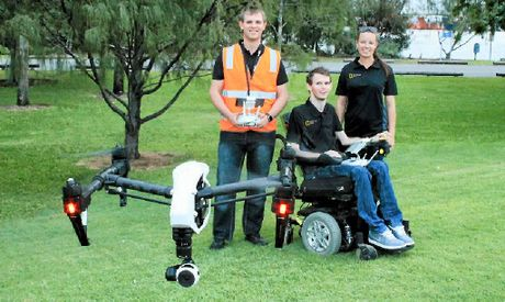 HIGH HOPES: Ready to launch an aerial video and photography business in Gladstone are (from left) Cory Jeacocke, Darren Jeacocke and Sarah McGuire.