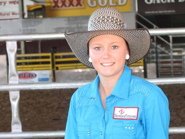RODEO CIRCUIT: Local cowgirl Amber Patteson, 15, is ready to prover her class in the junior, rookie and open barrel race.