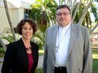 Pastoral Response Coordinator Melissa Davey and Bishop Michael McCarthy. Photo Allan Reinikka / The Morning Bulletin