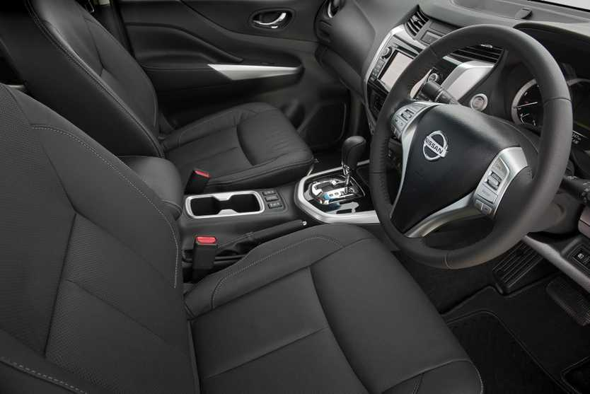 2015 Nissan Navara ST-X's cabin is the most luxurious and helps the ute's case for family car as well as site worker