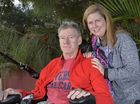Alan Campbell, pictured with wife Jackie, sustained serious spinal injuries when he fell down a flight of stairs at Ipswich Grammar School. Photo Inga Williams / The Queensland Times