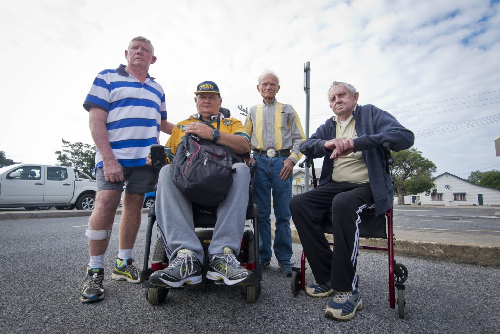 John Radnedge, David Hayes, Eugin Radas and Barry Ryan were heartbroken when they found out they wouldn't be able to travel to Rockhampton for specialist treatment with the ceasing of the Gladstone Rotary Medical Bus service.