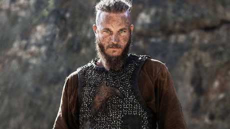 A supplied image of Australian actor Travis Fimmel as Ragnar Lothbrok on the SBS series Vikings.
