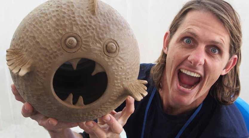 CREATIVE FLOW: Byfield potter Renton Bishopric recently returned home from a two-week ceramic art workshop in Icheon, Korea.