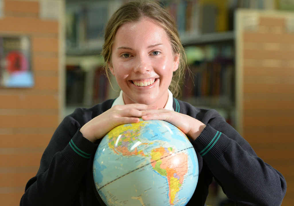 ON A MISSION: St Ursula's College student Sarah Callinan is off to the US for the 2015 International Space Camp.