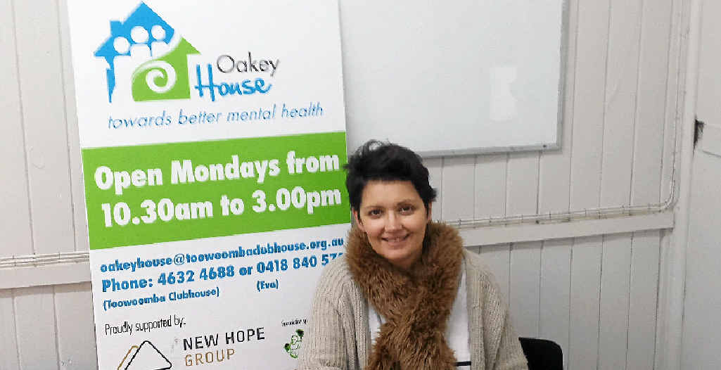PROUD PARTNER: Mental health rehabilitation officer Eva Coll at Oakey House says funding has given the centre new hope.