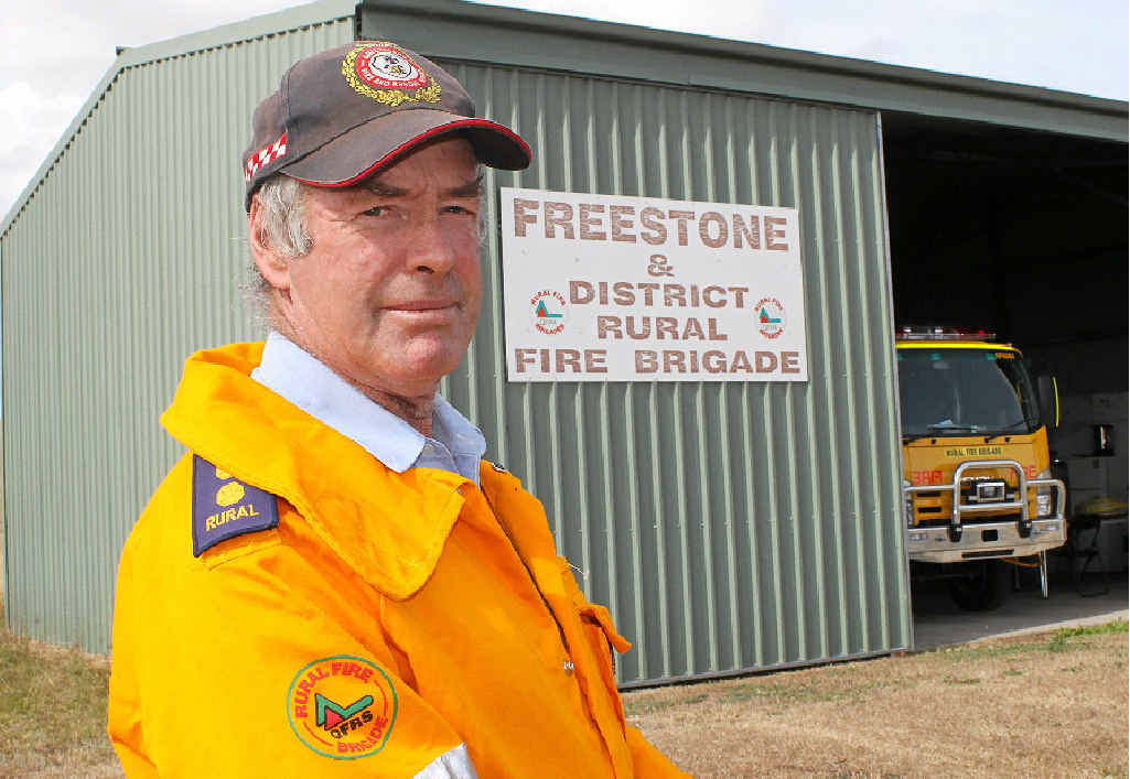 SMALL COMPENSATION: Warwick Rural Fire Brigades deputy group officer Alan Payne is pleased with changes that will give firies more protection.