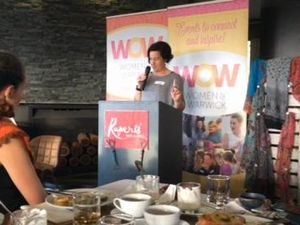 Sonia Pohlman shares her story at Women of Warwick breakfast