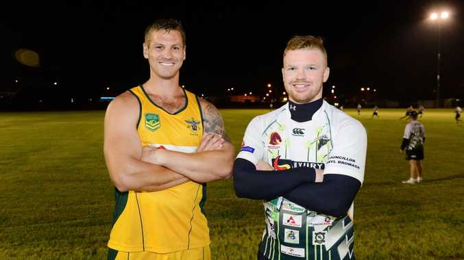 HUNTING EXPEDITION: Chris Ash (right), seen here with Rob Worsley, heads to PNG with the Ipswich Jets this weekend as 18th man for the Queensland Cup clash with the Hunters.