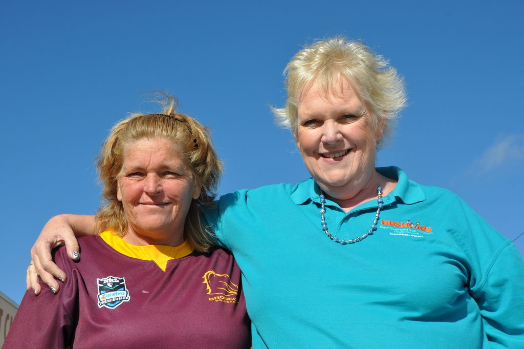 Inglewood mother of five Rayleen Watts is grateful for the help of Sue Clarke and the BUSHKids team. Photo Michael Cormack / Warwick Daily News