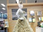 Marcia the mannequin is turning heads at Ipswich Central Library for all the right reasons. Photo: Contributed
