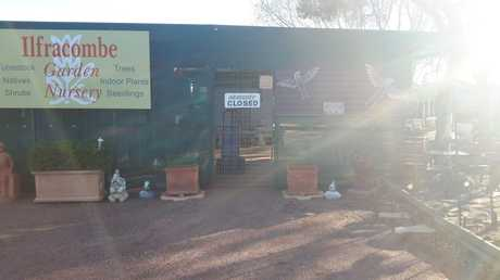 BUSINESS IMPACT: Di Mills has a drought sale before closing the doors on her western Queensland nursery as the dry continued.