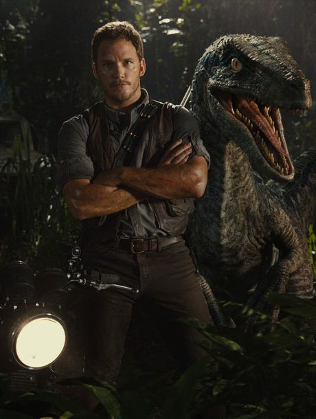 DINO FLICK: Chris Pratt in a scene from the movie Jurassic World.