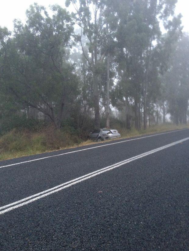 Nobody was injured in this single vehicle crash at Dululu overnight.