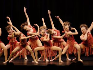 Contemporary dancers hit stage