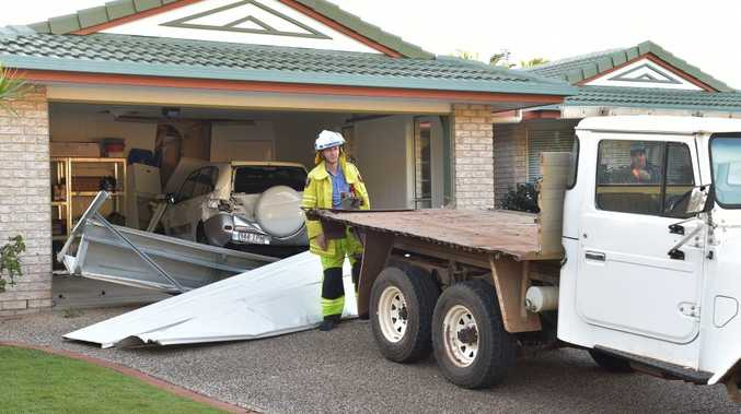 An early model toyota landcruiser utility rolled backward down the length of Sheoak Court in Buderim (approximately 200m)